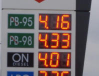 Intergated Petrol station informational displays