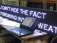 Text Message LED display, ticker LED display
