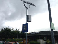 White LED variable message LED sign - solar powered