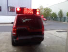 12-24V LED programmable sign for emergency services