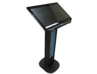 Low cost kiosk with illuminated stand for the poster