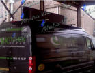 Designer LED Scrolling Sign on the Van