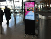 Indoor Digital stand / totem hire for exhibition, conferences and other events
