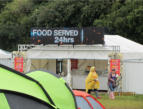 Outdoor LED digital Display at the Oxegen