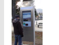 Outdoor LCD Digital Interactive Info-Kiosks